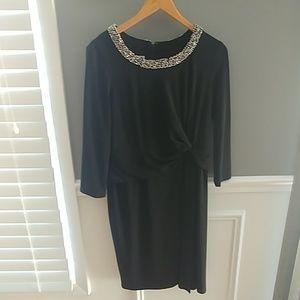 Black flattering cocktail dress